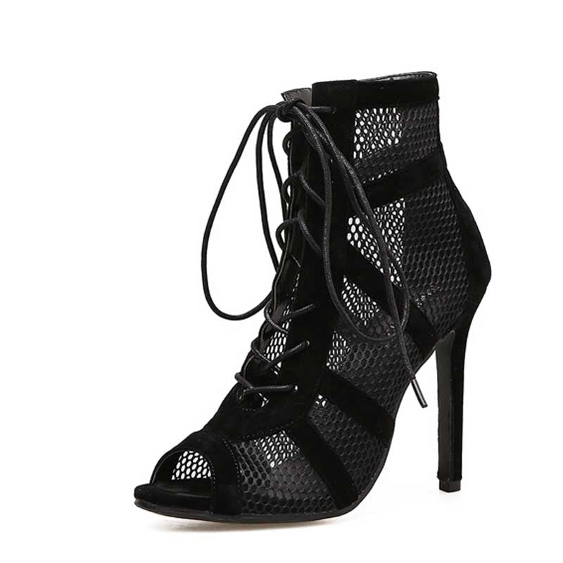 Lace-up sexy high heel women's shoes