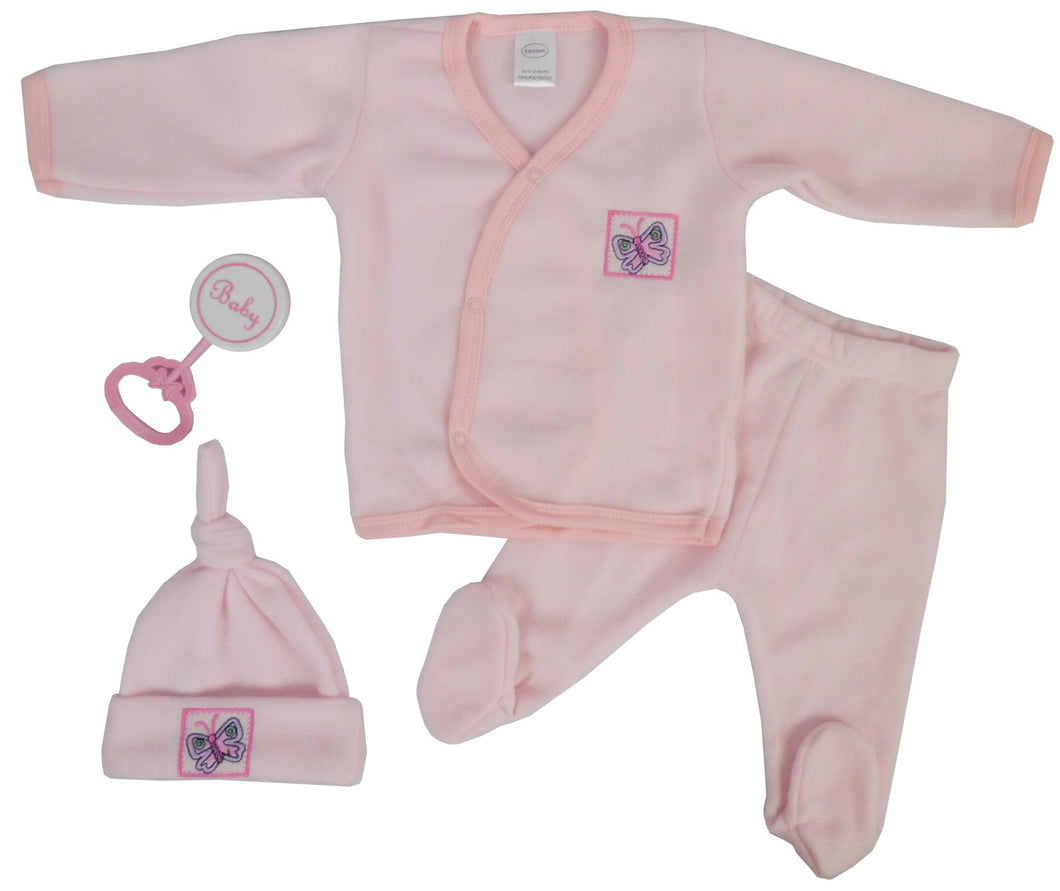 4 Piece Fleece Set - Pink