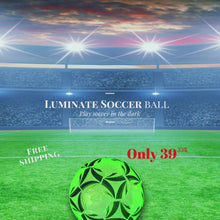 Load and play video in Gallery viewer, Luminate Soccer Practice Football Glowing Training Ball