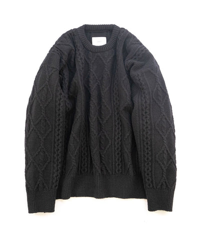 【stein】OVERSIZED CABLE KNIT LS
