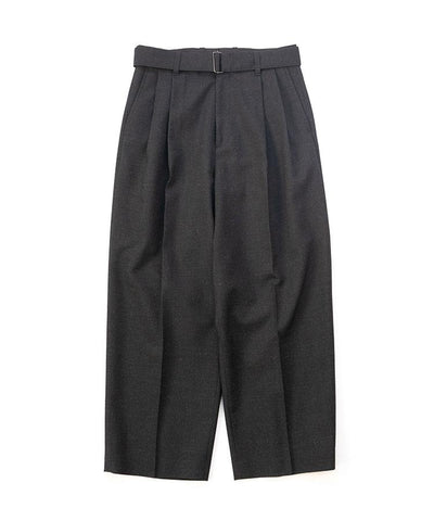 【stein】BELTED WIDE STRAIGHT TROUSERS