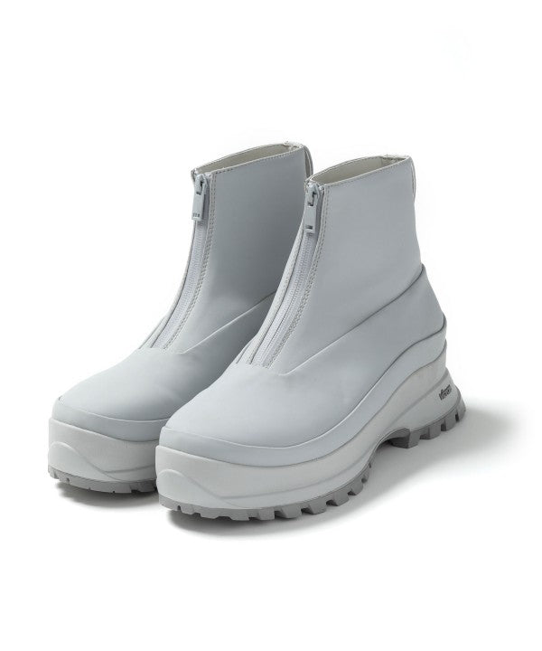 【ATTACHMENT】COATED CLOTH FRONT ZIP BOOTS
