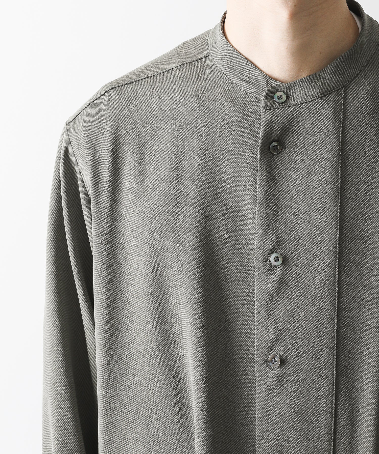 【UJOH】BAND COLLAR SHIRTS