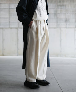 【stein】WIDE STRAIGHT TROUSERS