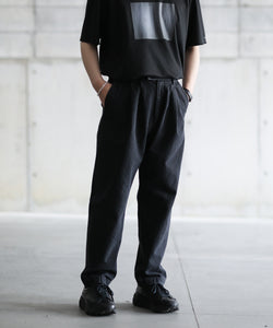 【stein】TWO TUCK DENIM TROUSERS
