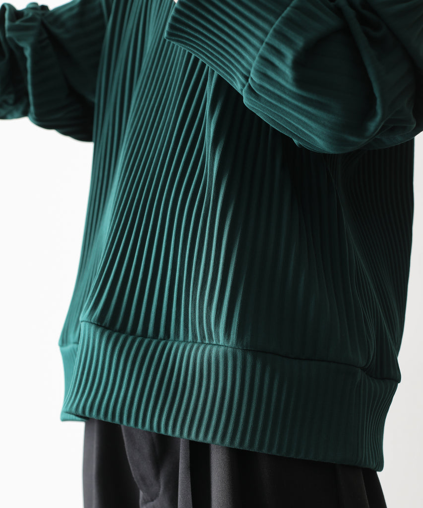 PLEATED KNIT CREW NECK LS ST.243 GREEN stein シュタイン session 通販 21ss 21aw