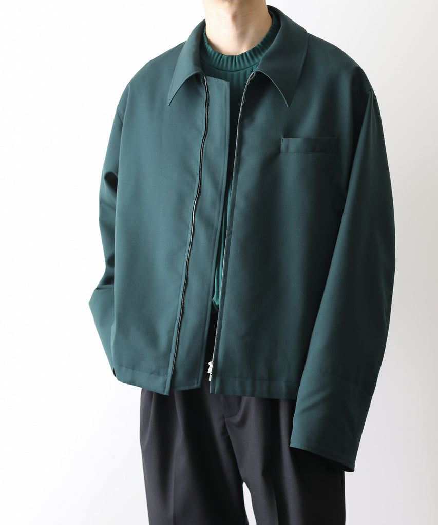 21ss 21aw stein DEEP NECK ZIP JACKET GREEN 公式通販 sessionST.225