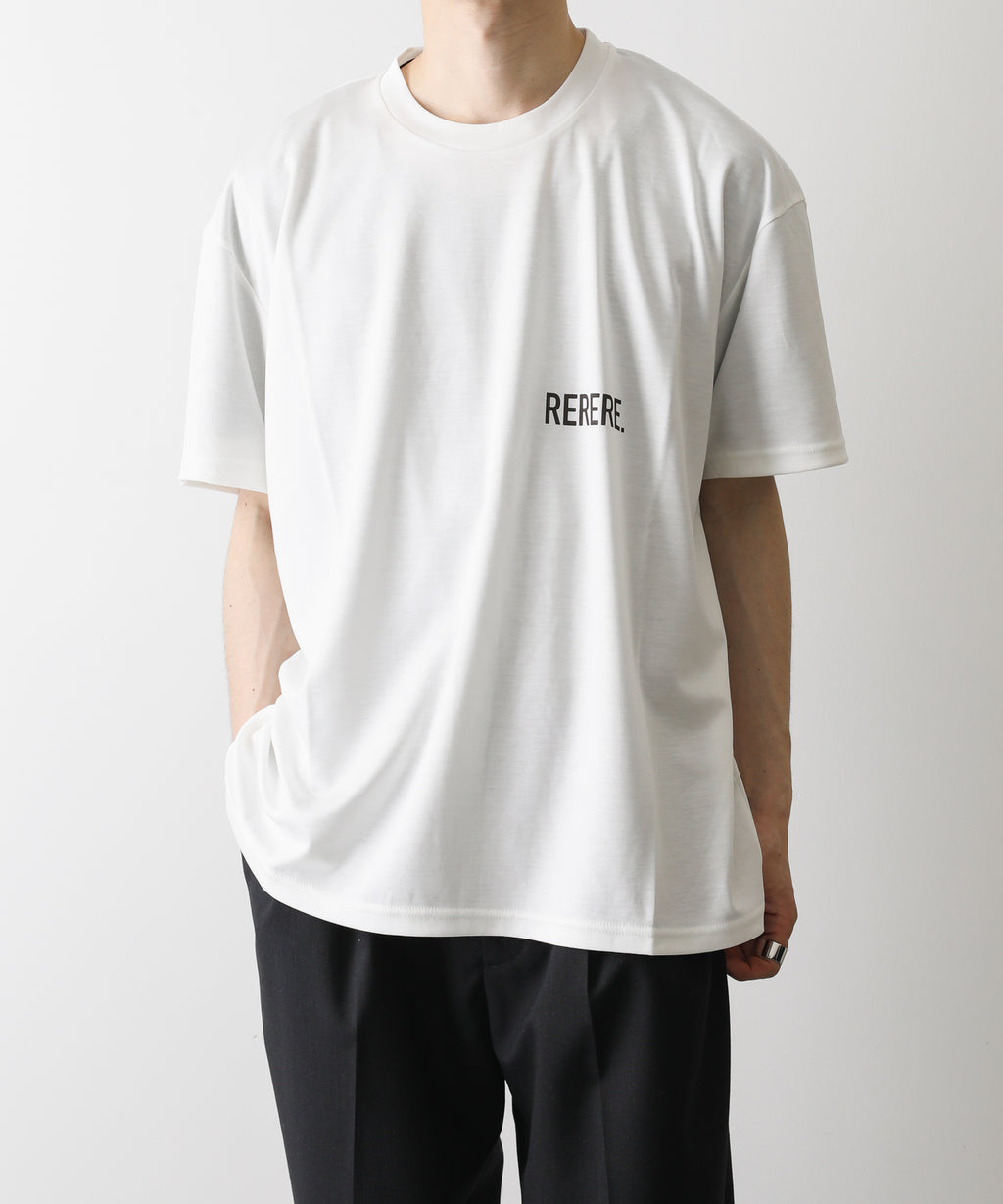 stein シュタイン PRINT TEE - RE LOOP - WHITE ST.257 session