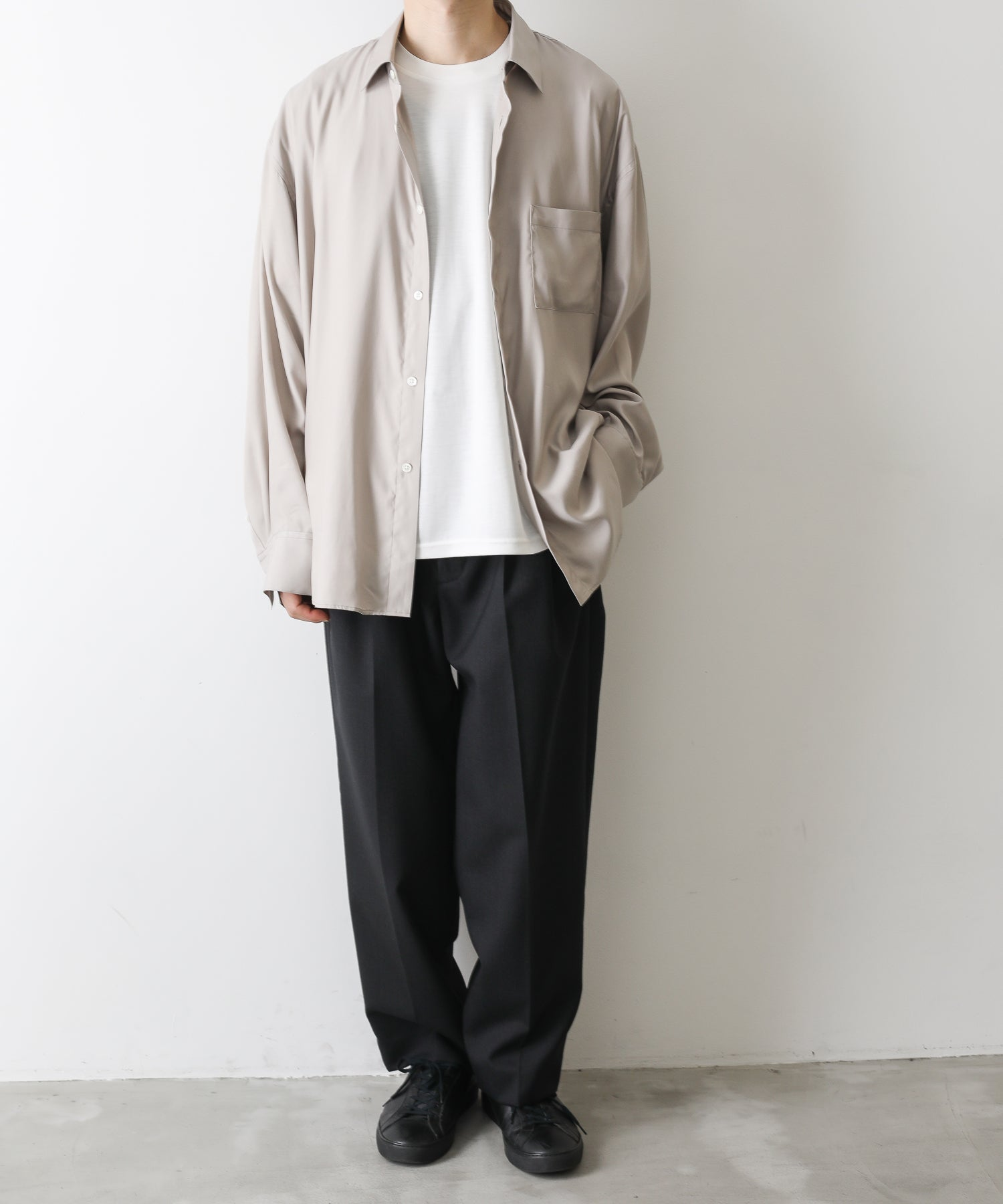 【stein】OVERSIZED DOWN PAT CUPRO SHIRTS