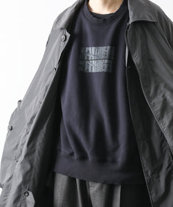 【stein】OVERSIZED BACK NYLON SWEAT LS