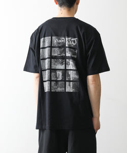 PSEUDOS PRINT PAPER T-SHIRT SS / BAY BLACK session 通販