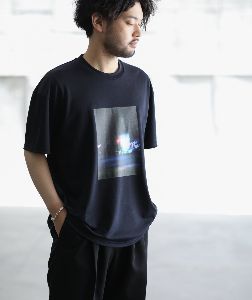 stein シュタイン PRINT TEE - PORTRAIT - DARK NAVY ST.256 session