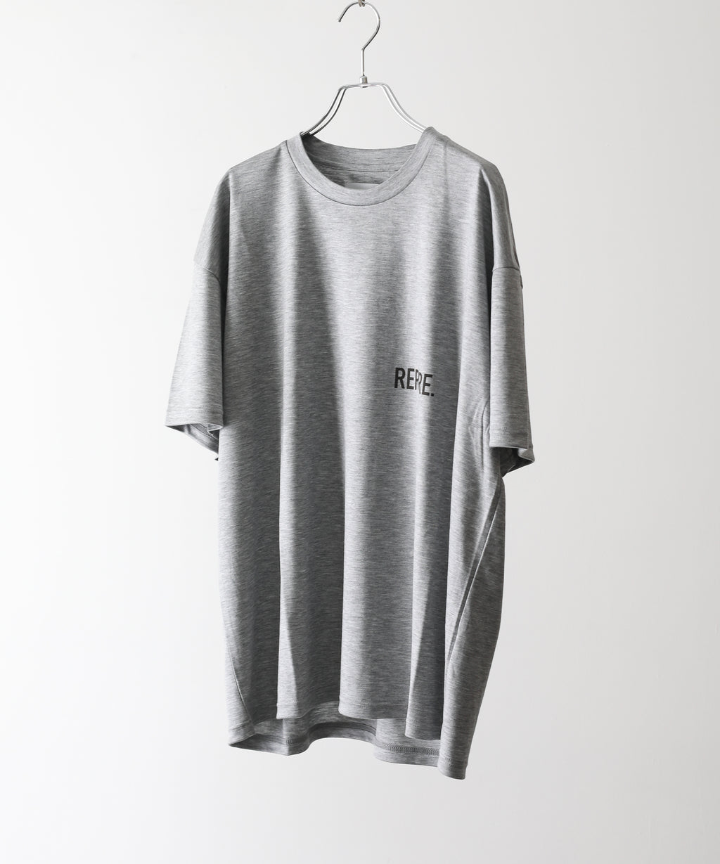 stein シュタイン PRINT TEE - RE LOOP - GRAY  ST.257 session