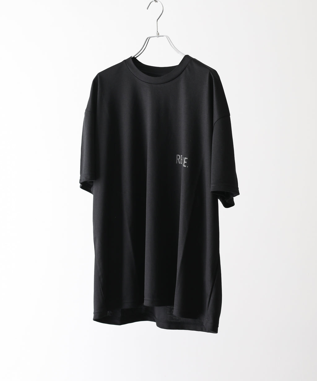 stein シュタイン PRINT TEE - RE LOOP - BLACK  ST.257  session