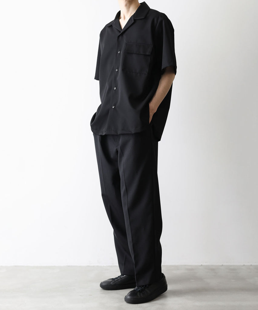 EX WIDE TAPERED TROUSERS stein シュタイン session 通販 21ss 21aw ST.219_1 BLACK