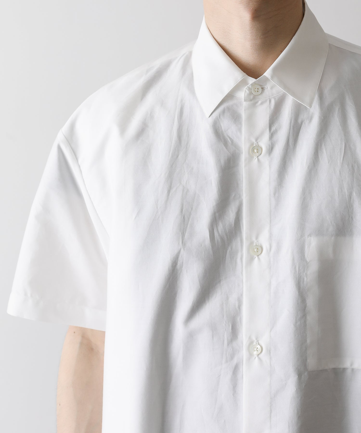 stein シュタイン OVERSIZED FOLDED SS SHIRTS WHITE  st.251 session 通販