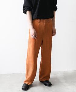 【KAZUYUKI KUMAGAI】 CUPRA TWILL BACK PLEATS PANTS