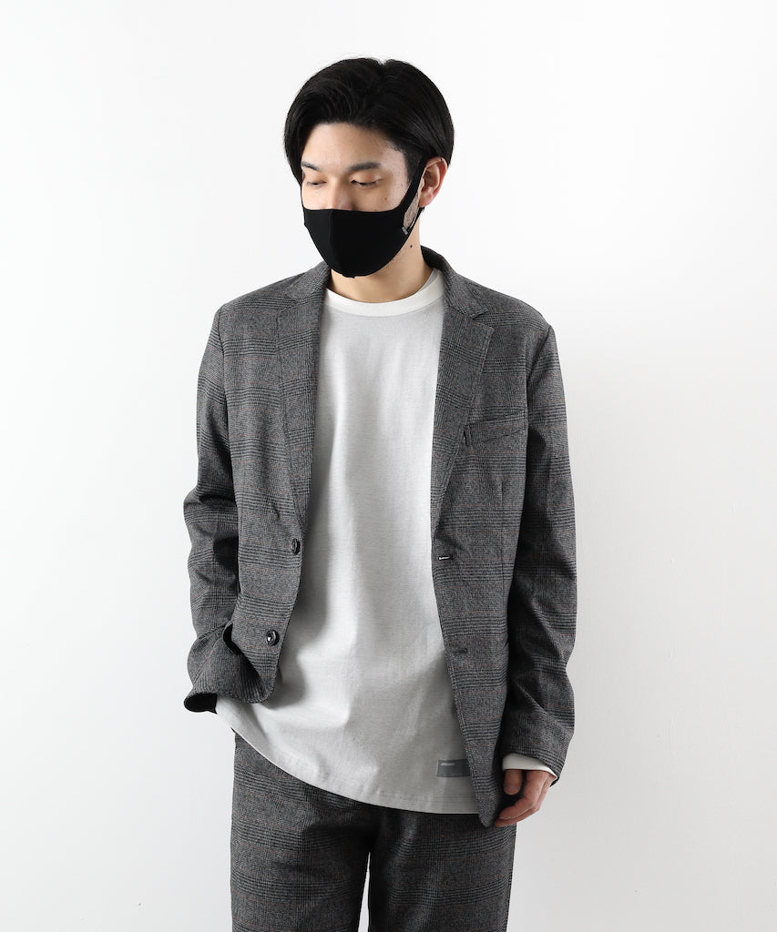 【 SALE / atman 】*GLEN CHECK 2B JACKET