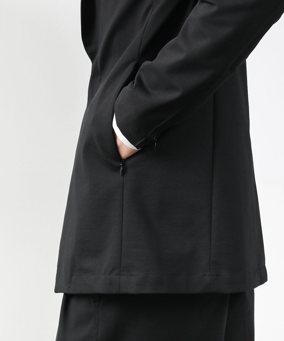 【ATTACHMENT】PONTE JERSEY FRONT FLY BLAZER