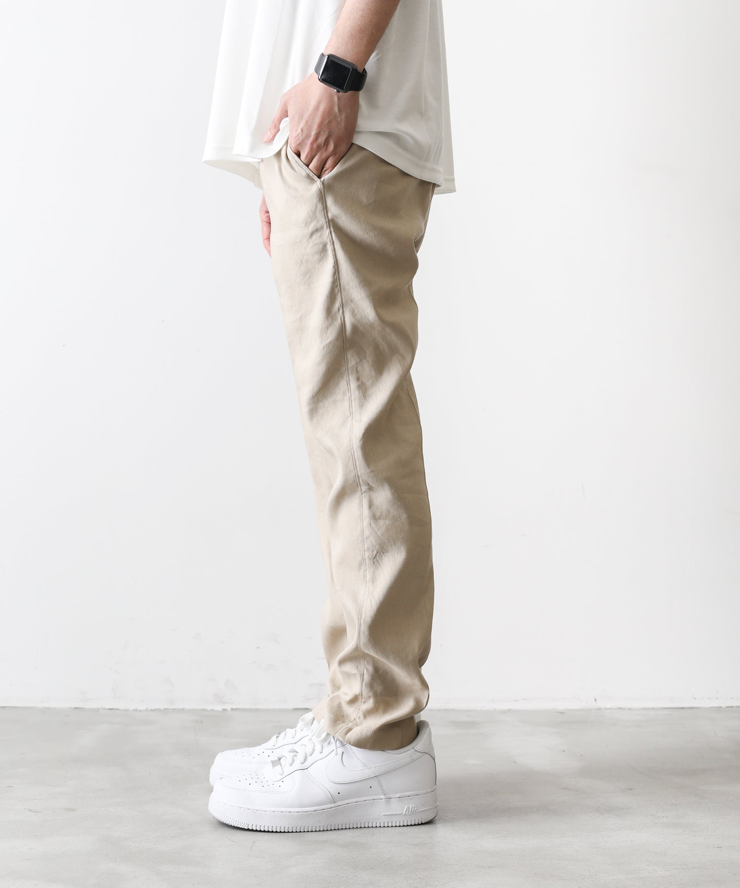 【atman】 STRETCH LINEN TROUSERS