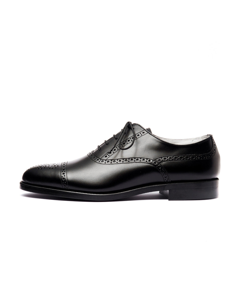 FOOTSTOCK フットストック SEMI BROGUE SHOES BLACK 公式通販 session