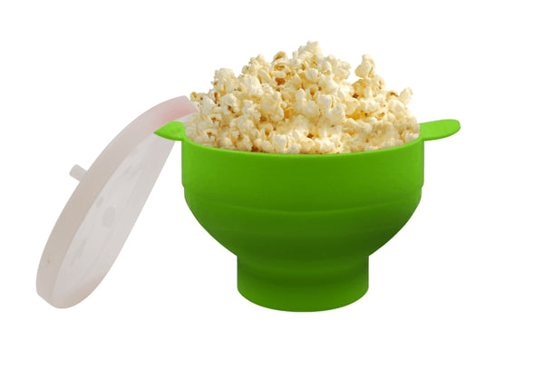 Foldable Silicone Microwave Popcorn Popper With Lid
