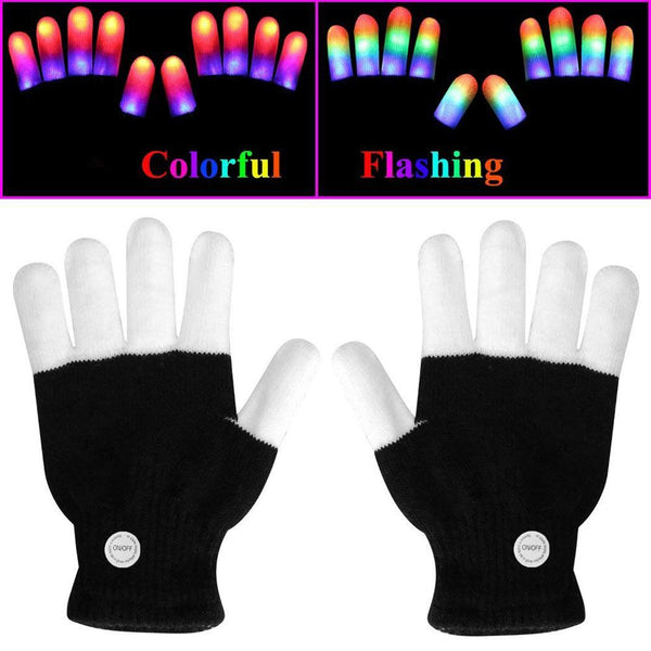 LED Luminous Finger Gloves