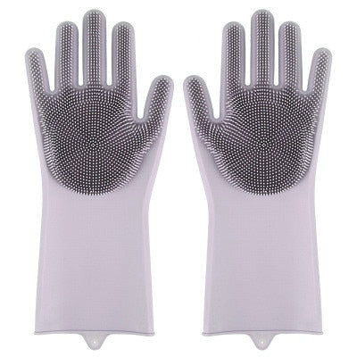 Magic Sponge Silicone Gloves