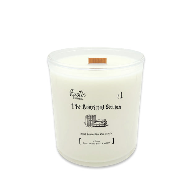 Rustic Ember | The Restricted Section | 10 Ounce Candle 1