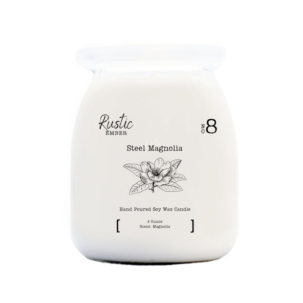 Rustic Ember   Steel Magnolia   5 Ounce Candle 1