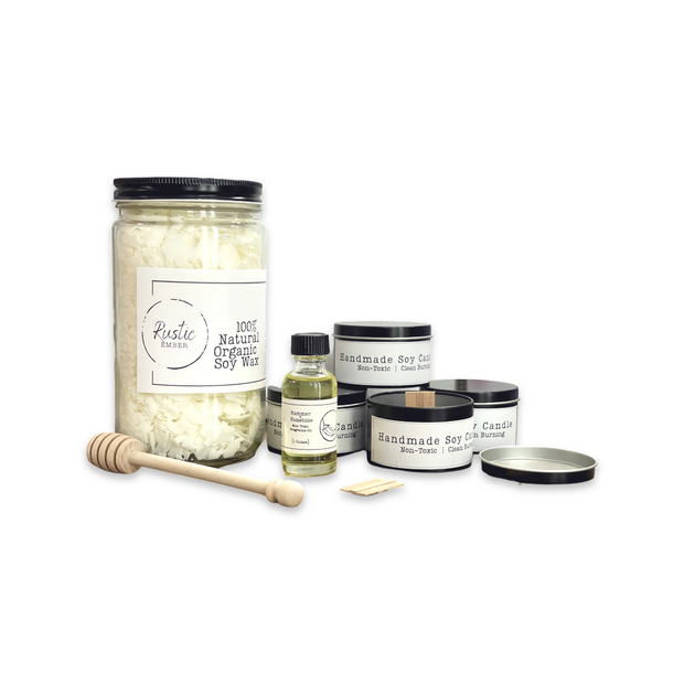 Rustic Ember Wood Wick Soy Candle DIY Kit 1