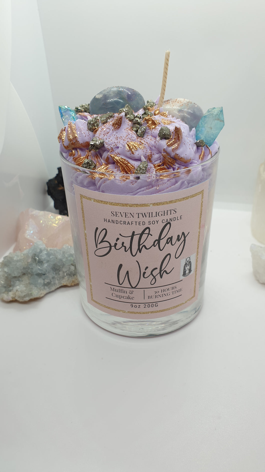 Birthday cake wish candle 30cl