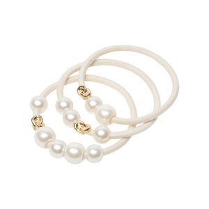 Corinne Hair Tie Pearls 3 Pack Mabel & Mabel