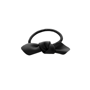 Open image in slideshow, Corinne Leather Hair Tie Small Black