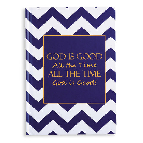 Hardcover journal 'God is good all the time...'