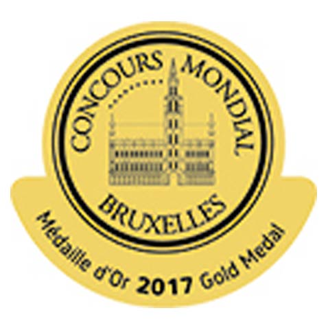 Gold Medal at Concours Mondial Bruxelles 2017