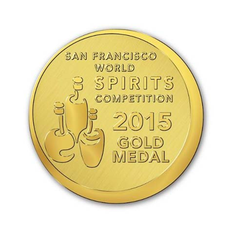 Ganador de Medalla de Oro en San Francisco World Spirits Competition 2015