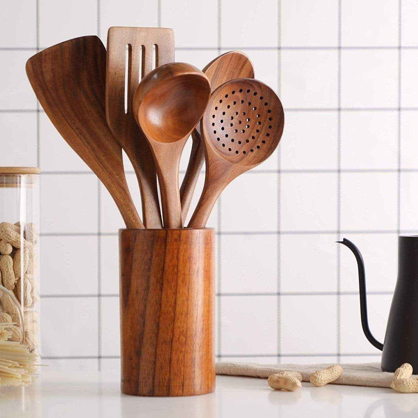 Skepre™ Walnut Utensil Cup
