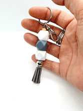 Load image into Gallery viewer, Beaded Keychain / Tassel Silicone Keyring / Bag Charm