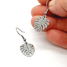 Load image into Gallery viewer, Monstera Earrings / Leaf Earrings / Stainless Steel Earrings