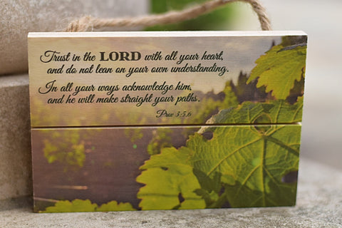 """Trust in the Lord"" Inspirational Wood Plaque"
