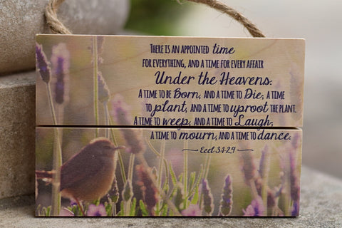 """There in an Appointed Time"" Inspirational Wood Plaque"