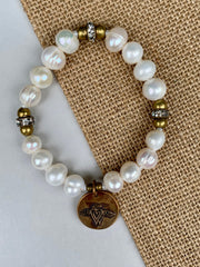 """Love is Everlong"" Pearl Bracelet"