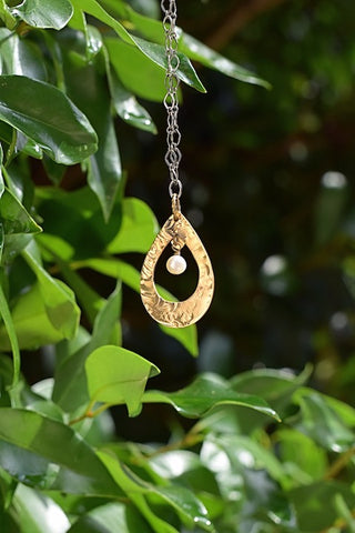 """Original Brass Teardrop"" Necklace"