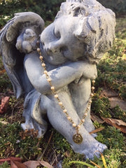 Praying Baby Angel Necklace