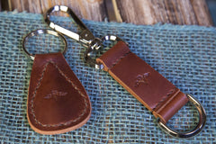 Leather Key Lanyard w/ Sterling Silver Baby Ring