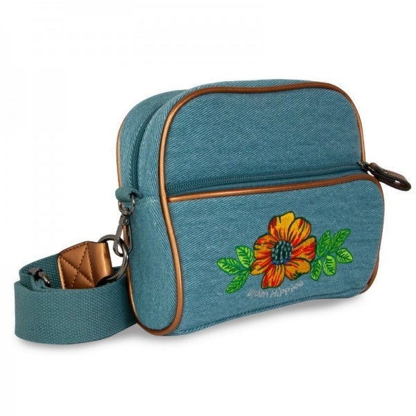 Urban Hippies Denim Teal Rose DailyBag