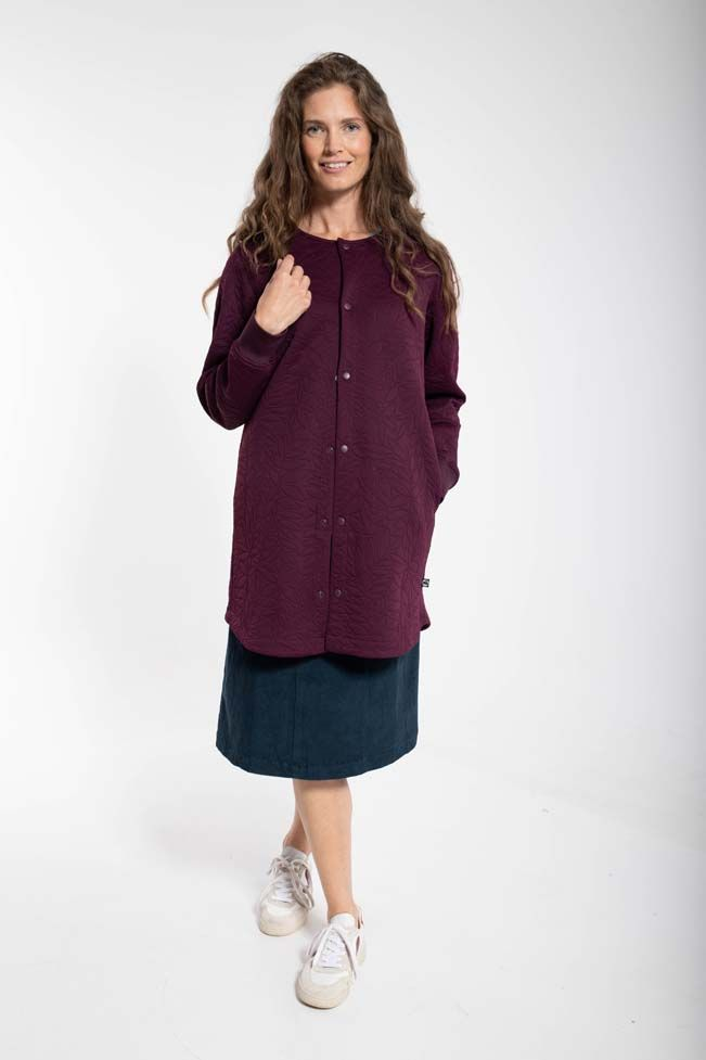 Maude Thermo Coat Dark Bordeaux
