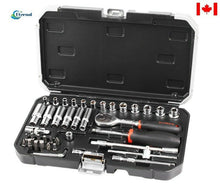 "Load image into Gallery viewer, 42 pc 1/4"" Socket tools set"