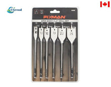 Load image into Gallery viewer, 6PC Wood Spade Bit Set 45#Steel,Nickel Plating,Double Blister Card
